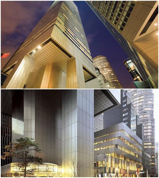 В 2002 г. одну из колонн усилили щитами из стали и меди для защиты здания от возможного теракта (Сiticorp Center, Манхэттен).