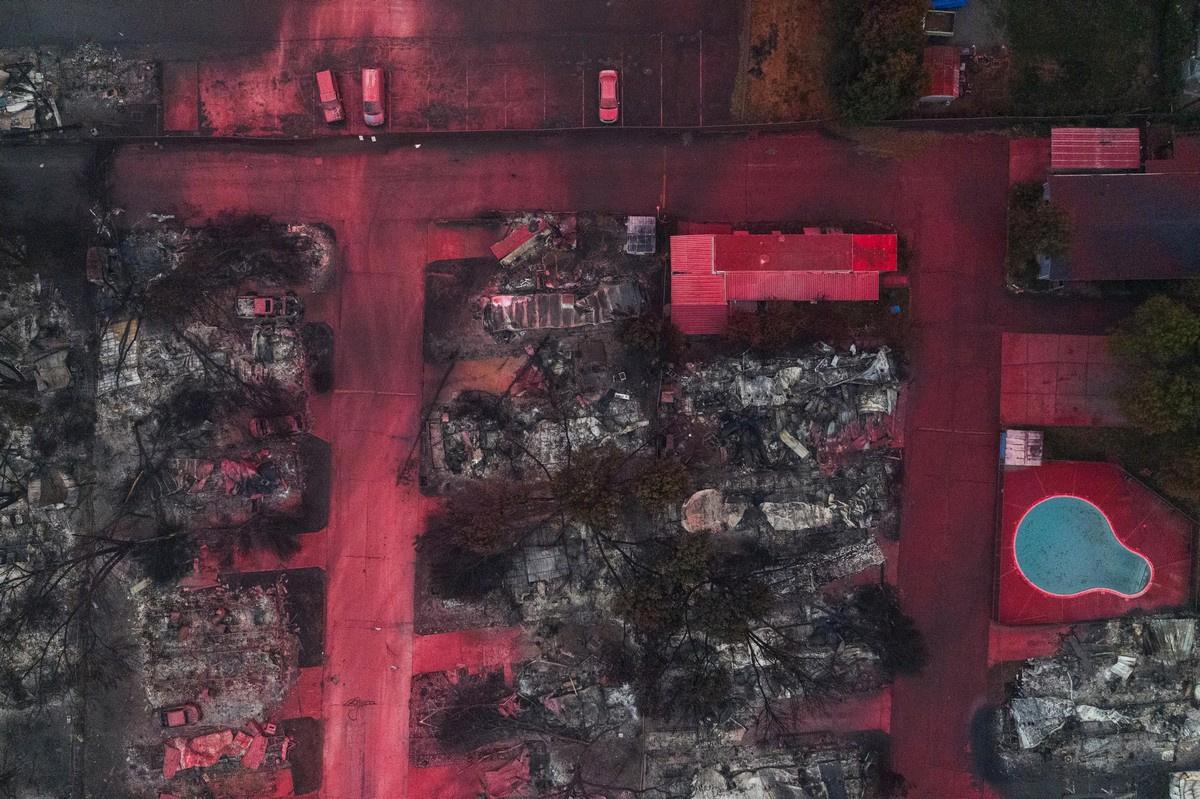 После пожаров в Калифорнии Происшествие,США