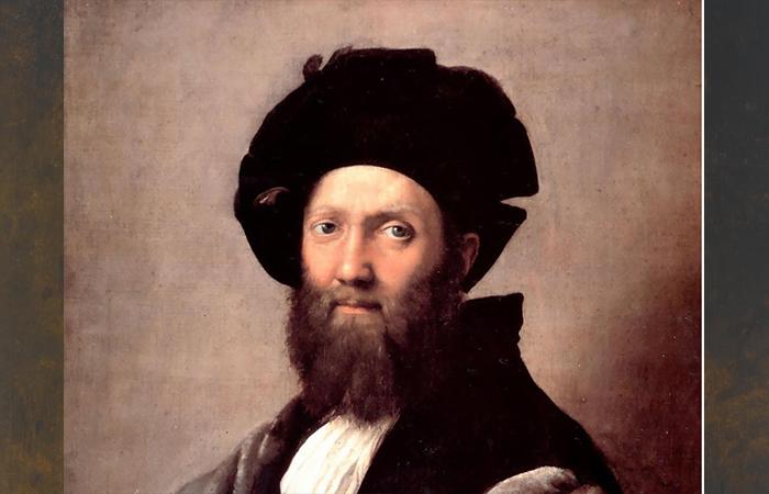 Портрет Бальтазара Кастильоне кисти Рафаэля