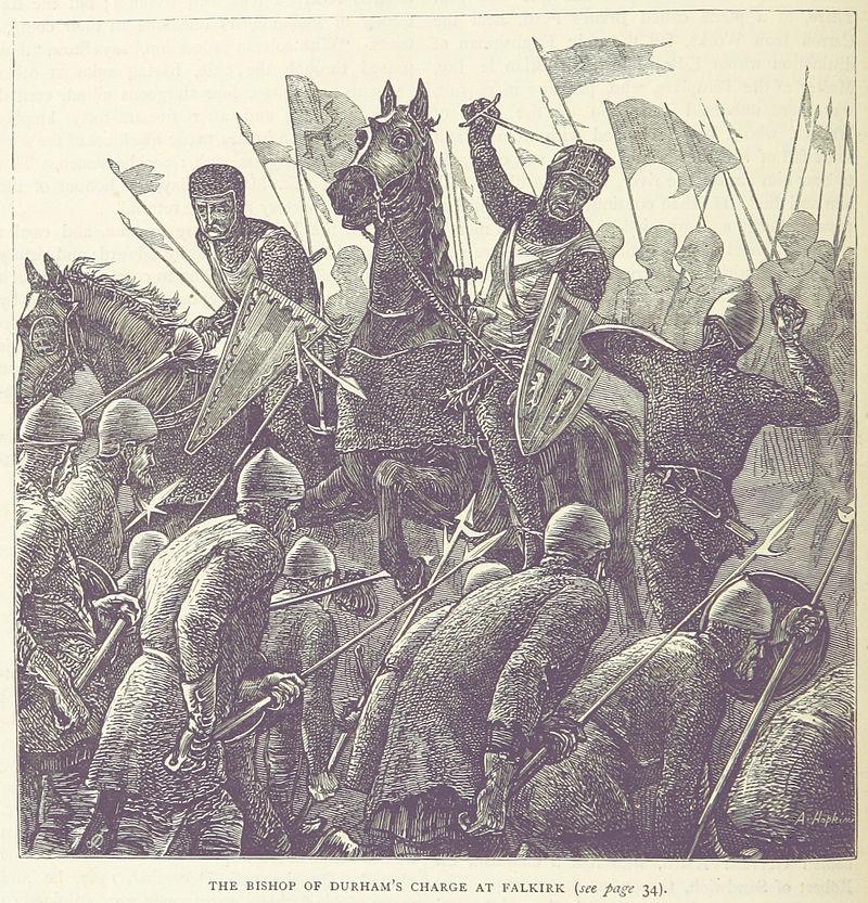 THE BISHOP OF DURHAM'S CHARGE AT FALKIRK {see page 34).,Всё самое интересное,интересное, познавательное,,фэндомы,Уильям Уоллес,William Wallace,История,много фото,под катом еще,длиннопост,много букв,Шотландия,Великобритания,Great Britain, UK,страны,англия