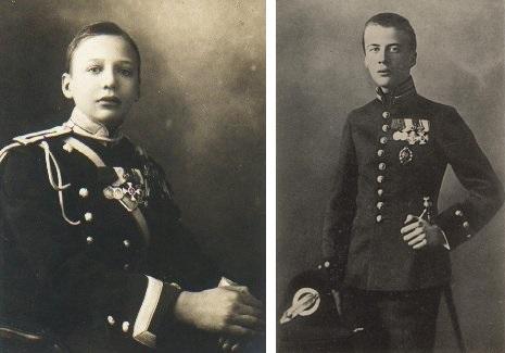 Князь Игорь и Олег Константиновичи Романовы в юности.