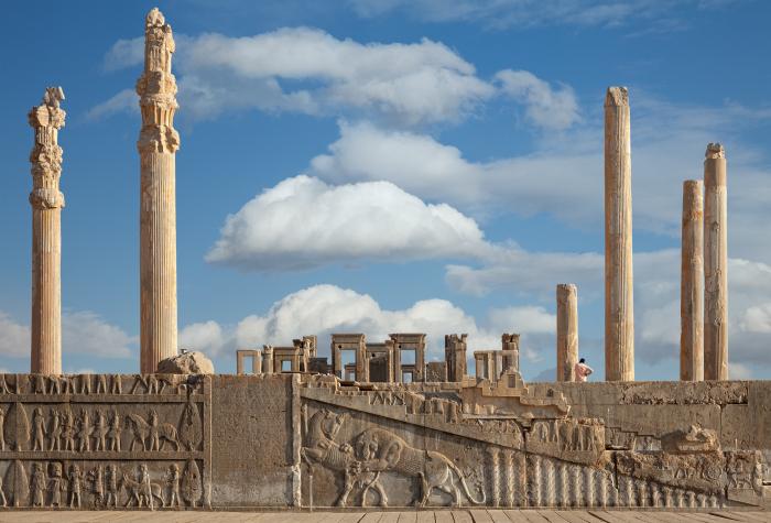 Дворец царя Ксеркса, около 479 года до нашей эры, Персеполь. \ Фото: lifestyle.sapo.pt.