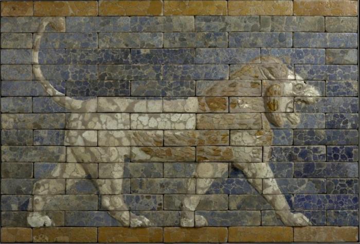Мозаика Вавилонского льва, 6 век до н. э. \ Фото: google.com.ua.