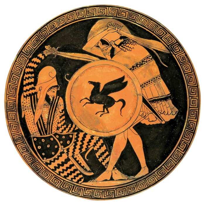 Гоплит, убивающий павшего перса, 5 век до нашей эры. \ Фото: laaventuradelahistoria.es.