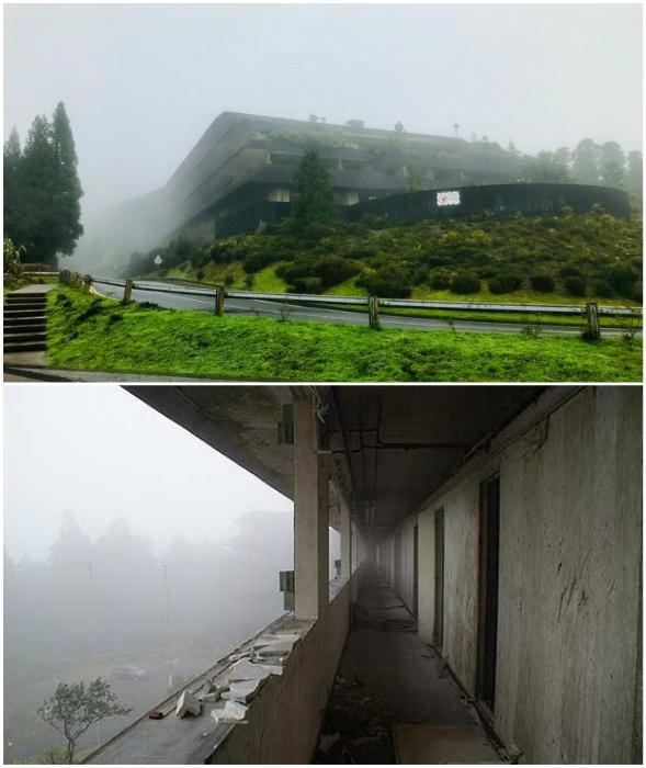 Туман, сырость и пронизывающий ветер привели фешенебельный отель к полному запустению (Monte Palace, Азорские острова).