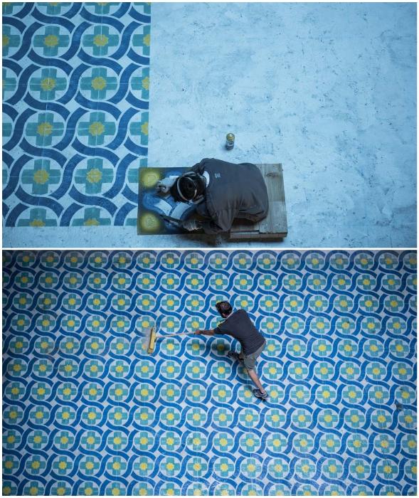 Молодой художник Хавьер де Риба холл заброшенного отеля превратил в арт-объект (Monte Palace, Азорские острова).