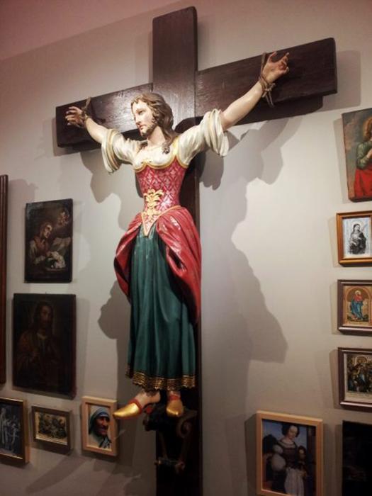 Святая Вильгефортис в епархиальном музее Граца, Австрия. / Фото: Wikimedia Commons