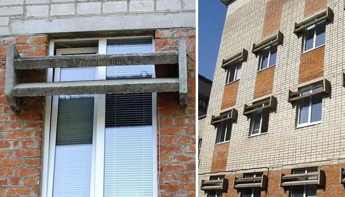 Зачем в советских многоэтажках устанавливались бетонные «козырьки»? СССР