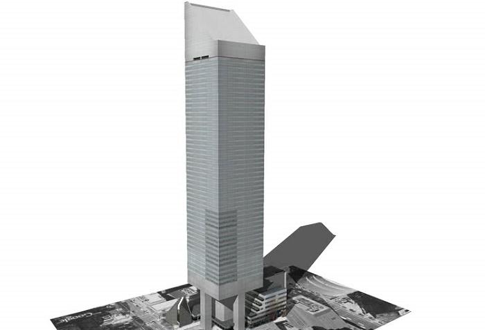 После обнаружения ошибки в строительстве, был составлен проект реконструкции (Сiticorp Center, Манхэттен). | Фото: 3dwarehouse.sketchup.com.
