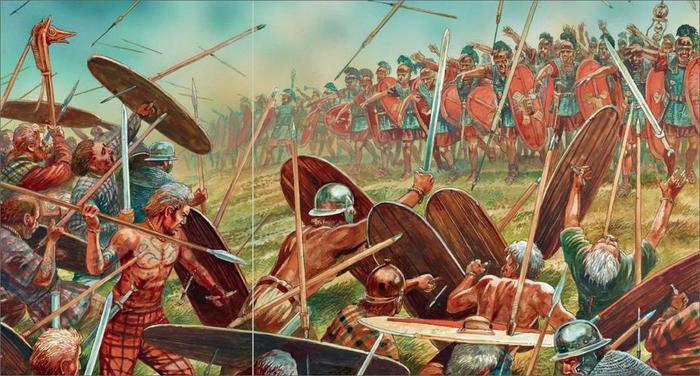 Легионеры все больше метали копья, а не дрались ими. /Фото: legio-x.ru.
