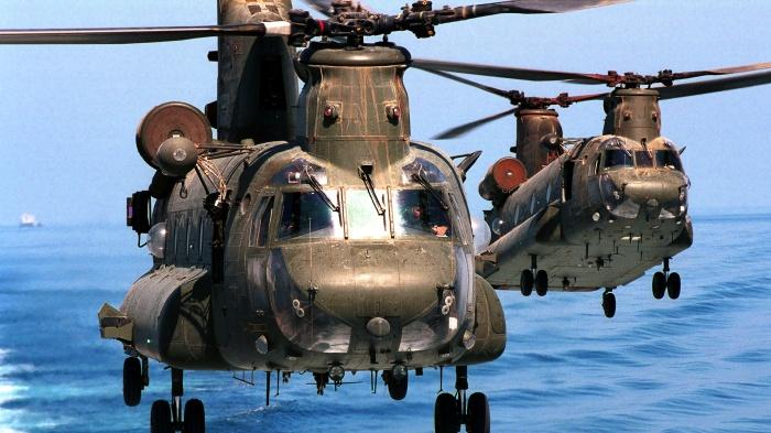 Однако все американские тяжелые вертолеты производятся на базе колесного шасси / Фото: warfiles.ru