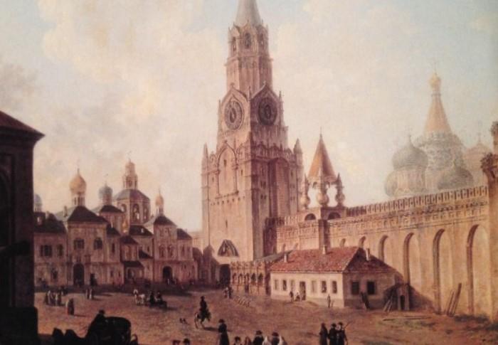 Спасская башня Кремля в XIX веке