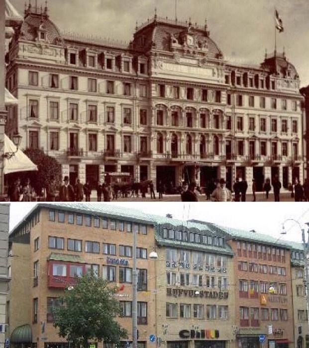 Сейчас бы власти Гетеборга многое отдали за то, чтобы вернуть время вспять и сохранить отель в первозданном виде (Швеция). | Фото: varlamov.ru.