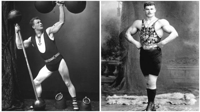 В начале 20 века силачи из цирка в трико и надетыми поверх него трусами пользовались большой популярностью / Фото: fotokto.ru