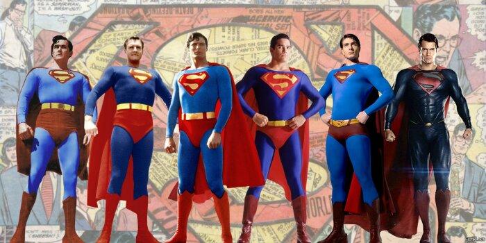 Костюм Супермена менялся периодически: трусы то снимали, то снова надевали / Фото: fishki.net