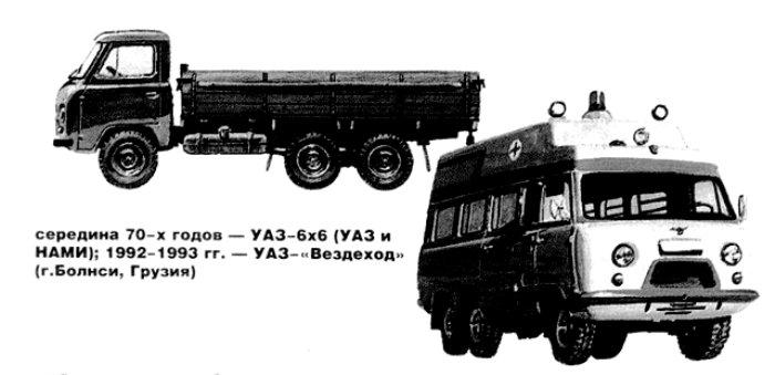 УАЗ-452ДГ и УАЗ «Вездеход». /Фото: uazbuka.ru