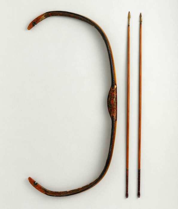 Изогнутый турецкий составной лук, XVIII  век. \ Фото: metmuseum.org.