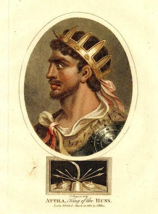 Аттила Гунн, Джон Чепмен, 1810 год. \ Фото: twitter.com.