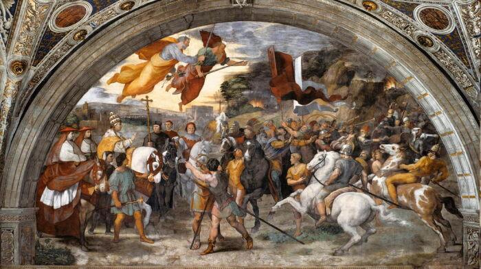 Встреча Льва Великого и Аттилы, Рафаэль. \ Фото: eclecticlight.co.